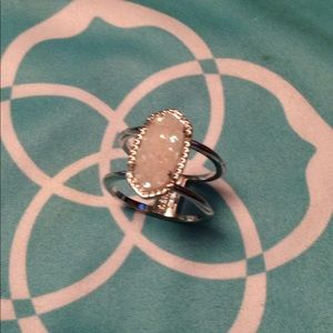Kendra Scott size 7 silver and opal ring